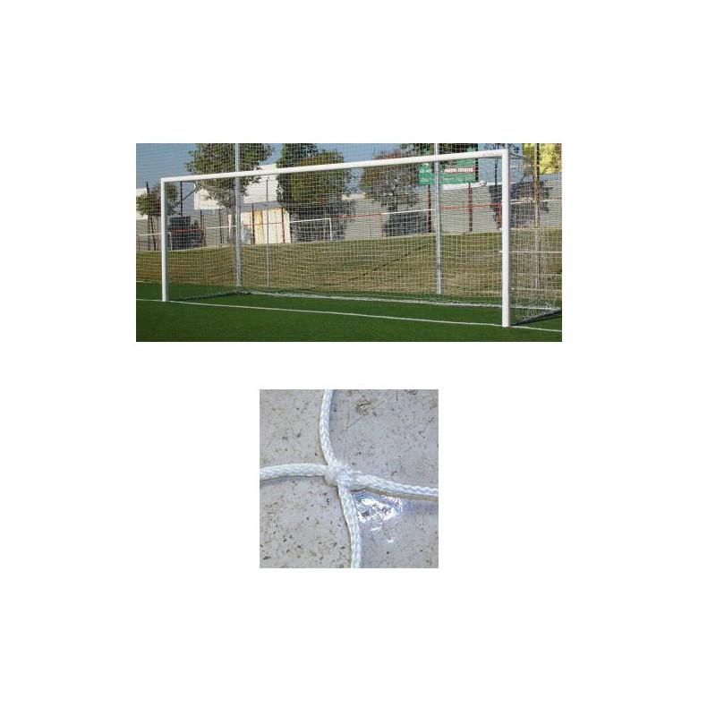 Redes porterías fútbol 11 cajón nylon de 3mm malla 120mm