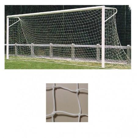 Redes porterías fútbol 11 arquillos polietileno de 4mm malla 140mm