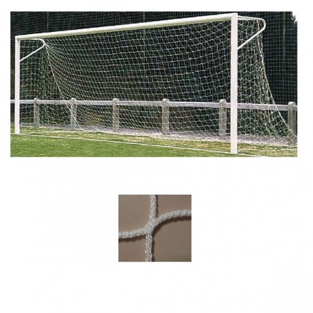Redes portería fútbol 11 arquillos polipropileno de 3mm malla 120mm