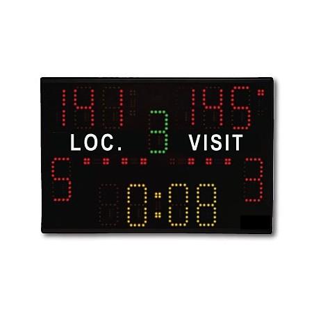 Marcador deportivo electrónico multideporte 13 dígitos de 10cm