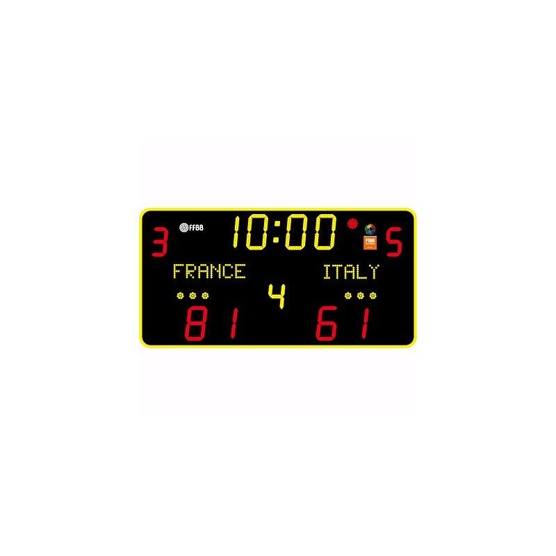 Marcador deportivo electrónico multideporte 13 dígitos de 15cm