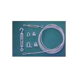 Cable de acero plastificado para red de tenis y padel