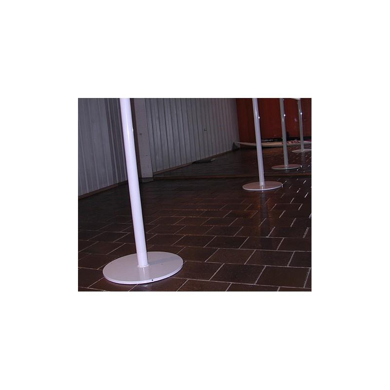 Sujeción al suelo para barras de ballet trasladables o móviles