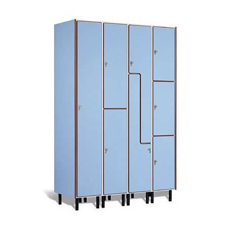 Taquilla vestuario melamina 4 puertas fenólicas 45x30x50cm