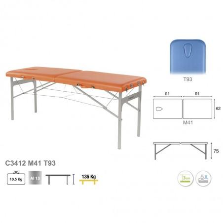 Camilla plegable aluminio masaje y terapia Ecopostural C3412M41
