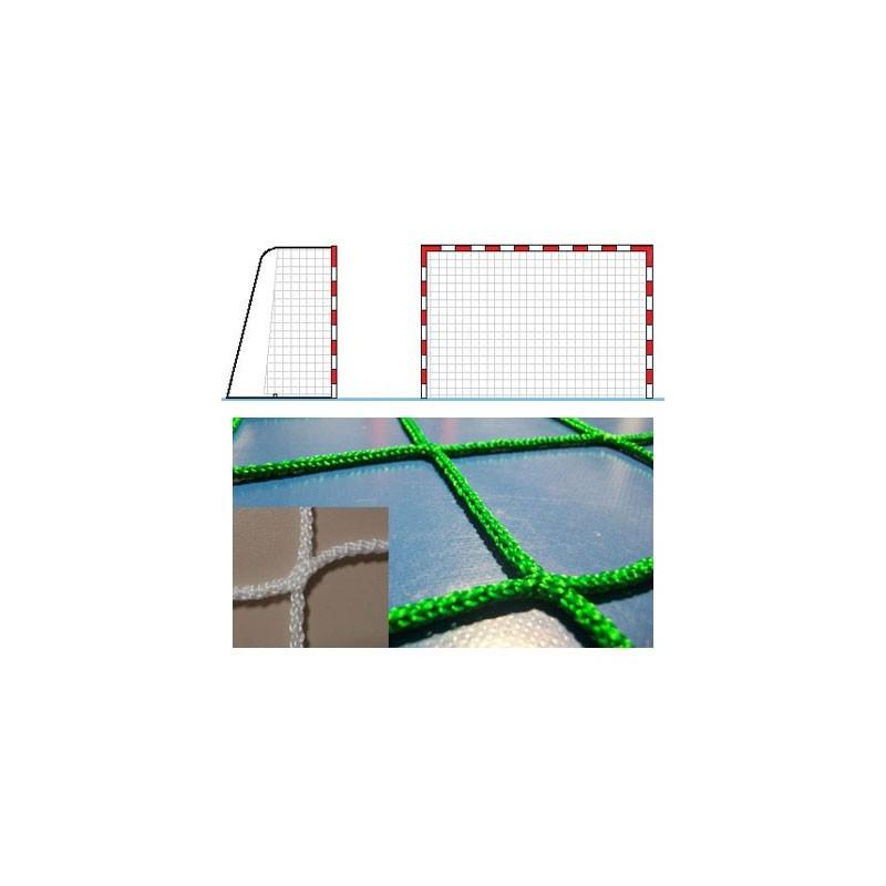 Red portería balonmano fútbol sala polietileno sin nudos hilo 4mm