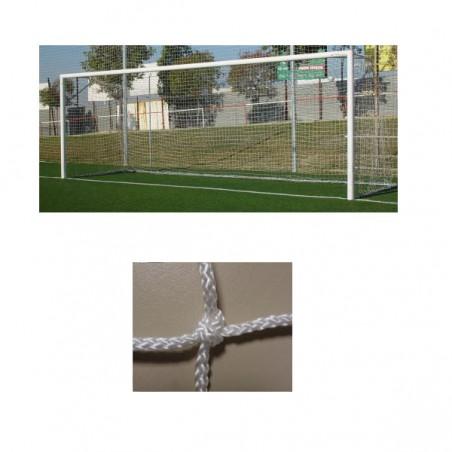 Redes porterías fútbol 7 cajón polipropileno de 4mm malla 120mm