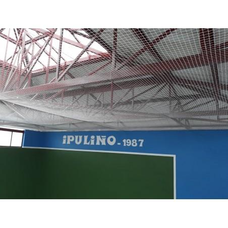 Red protección para techo de frontón Nylon malla 25x25 mm hilo 2 mm.