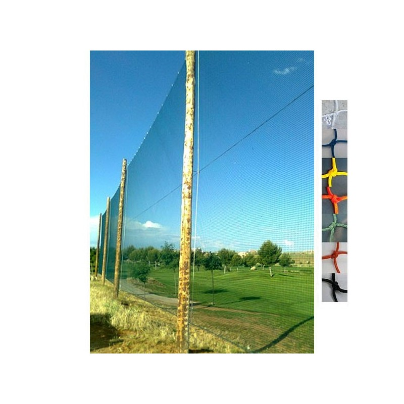 Red protección para campo de golf Nylon malla 25x25 mm hilo 1.8 mm.