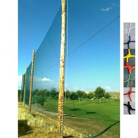 Red protección deportiva Nylon malla 30x30 mm hilo 2.4 mm