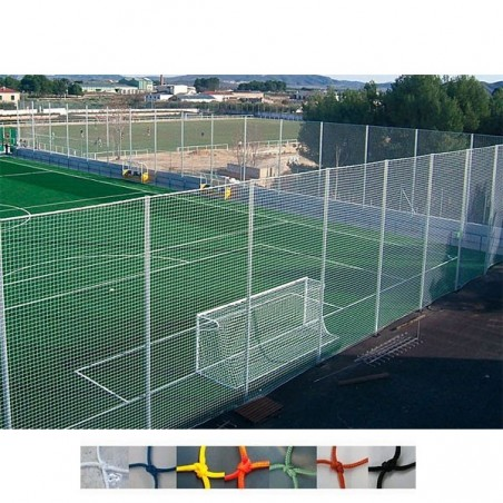 Red protección para campos de futbol Nylon malla 120x120 mm hilo 3 mm