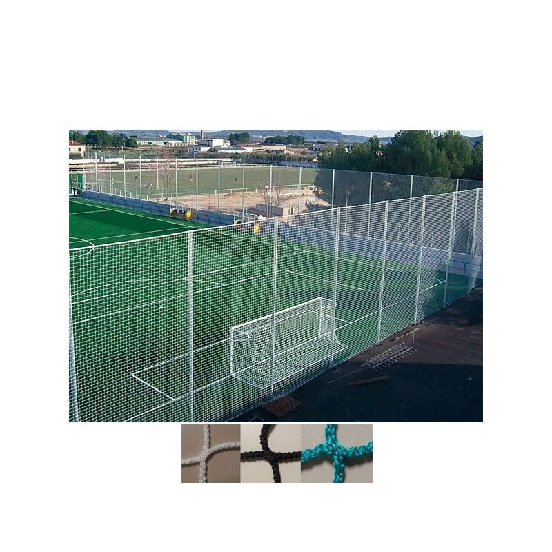 Red protección deportiva sin nudos para campos de fútbol Malla 100x100 mm hilo 4 mm