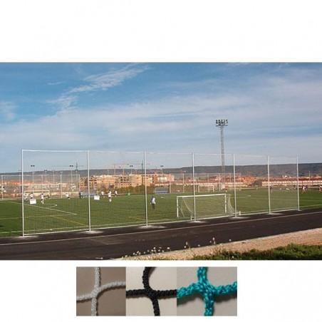 Red protección deportiva sin nudos para campos de fútbol y actividades con balón grande 120x120 mm hilo 4 mm