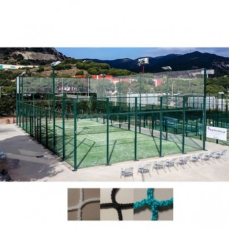 Red protección deportiva sin nudos para pistas de tenis, padel y actividades con pelota pequeña malla 45x45 mm hilo 3 mm