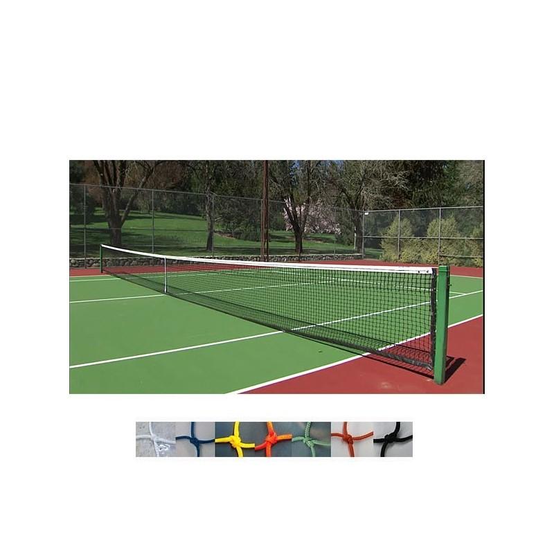 Paños de red para seguridad y protección nylon 2mm y malla 45x45mm, pistas tenis, padel, frontenis.