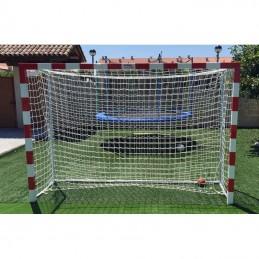 Dos cortinas para portería balonmano fútbol sala polipropileno trenzado sin nudos, 3mm