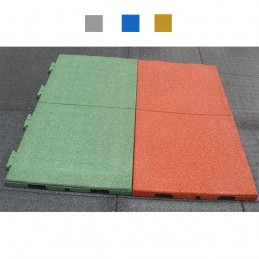 Suelo seguridad parques infantiles engarzable 1000x500x40mm