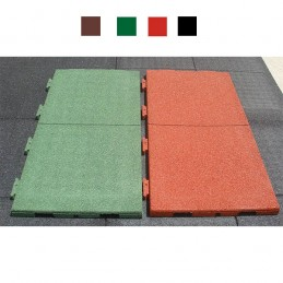 Suelo seguridad parques infantiles engarzable 1000x500x40 mm