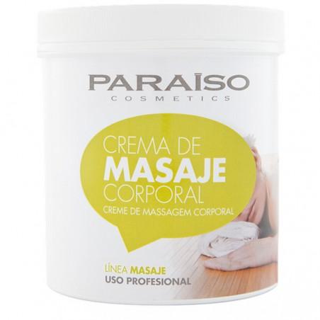 Crema masaje corporal profesional Paraíso 1000 ml., Hidrtante y relajante.