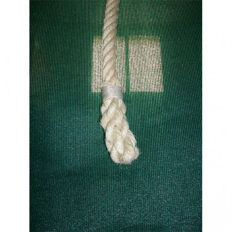 Cuerda trepa lisa de cáñamo 10 m de largo con sujeciones metálicas