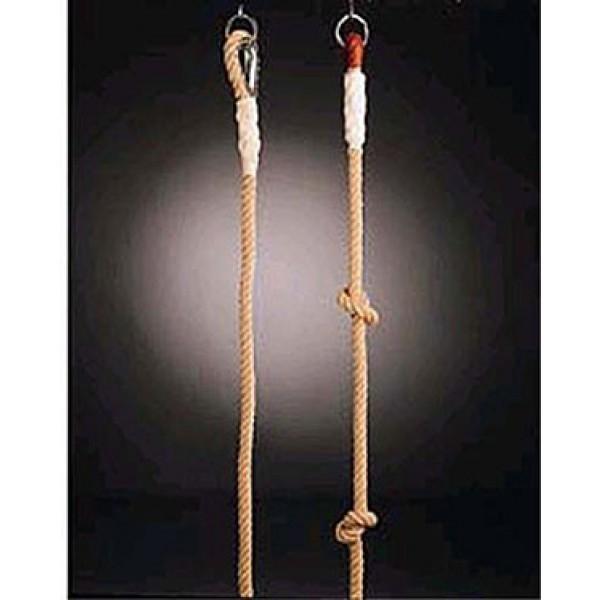 cuerda trepa de camo con nudos m de largo con sujeciones metlicas