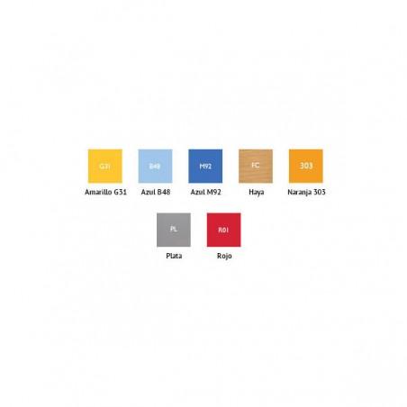 Colores taquilla vestuario melamina con 1 puerta 180x30x50 cm