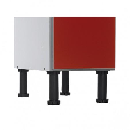 Patas de PVC para nivelar las taquillas de compacto fenólico de 2 puertas