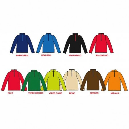 Colores de forros polares deportivos Cook para adulto con cremallera corta