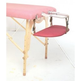 Bandeja apoyabrazos en camillas de masaje y terapias con tensores
