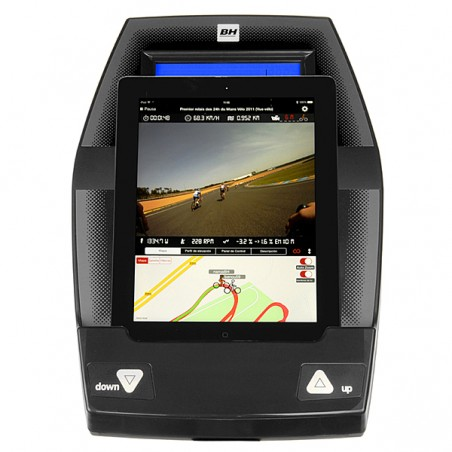 Monitor con i.Pad en la bicicleta elíptica semi profesional BH i.Concept FDR20 Dual con Dual Kit WG800