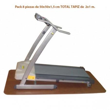 Pack de 8 losetas para instalar bajo las máquinas de ejercicio, cintas de correr, bicicletas elípticas, rodillos entrenamiento..