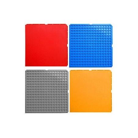 Loseta suelo gimnasio colores 330x330x10 mm.