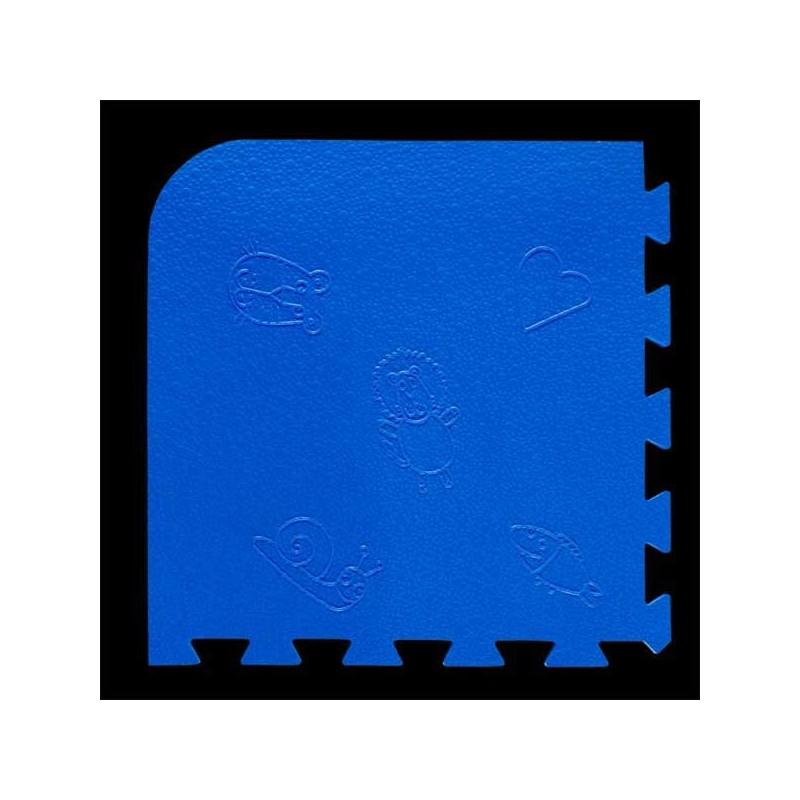 Loseta pack de 9 losetas de 55x55x1,5 cm para área de juegos infantiles Azul