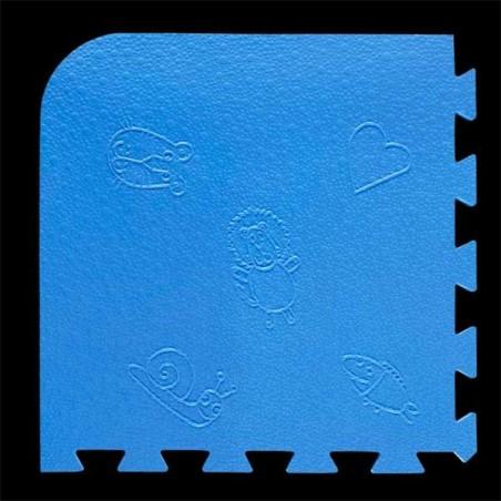 Loseta pack de 9 losetas de 55x55x1,5 cm para área de juegos infantiles Celeste