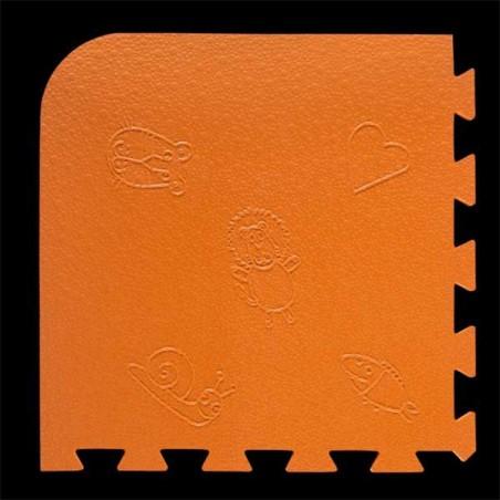 Loseta pack de 9 losetas de 55x55x1,5 cm para área de juegos infantiles Naranja