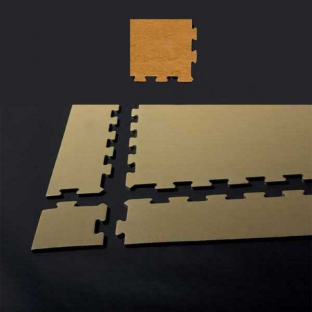 Esquina de remate para suelo gimnasio fitness 10x10x0,7 cm color Haya