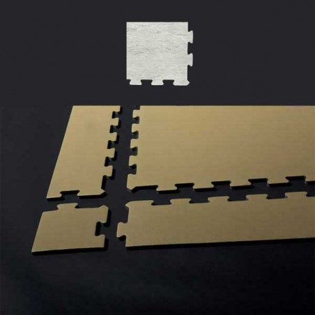 Esquina de remate para suelo gimnasio fitness 10x10x0,7 cm color Mármol blanco