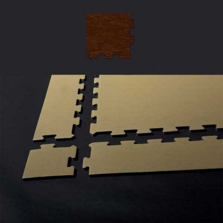 Esquina de remate para suelo gimnasio fitness 10x10x0,7 cm color Wengué