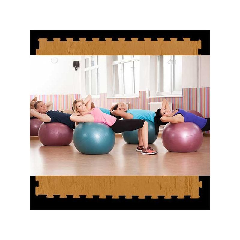 Pavimento suelo técnico de gimnasio para pilates, yoga o estiramientos 100x100x2 cm