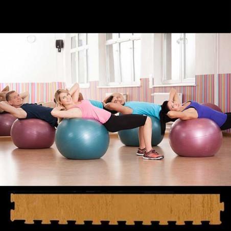 Perfil de remate para pavimento suelo técnico de gimnasio para pilates, yoga o estiramientos  12x100x2 cm