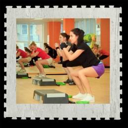 Loseta suelo gimnasio aerobic 100X100X1 cm