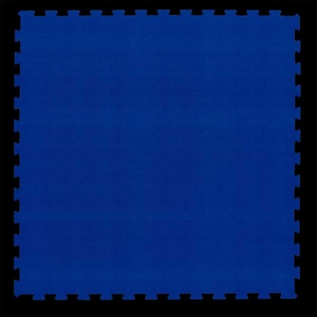 Pavimento para suelo gimnasio aerobic loseta de 100X100X1 cm Azul