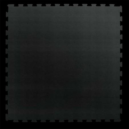 Pavimento para suelo gimnasio aerobic loseta de 100X100X1 cm Negro