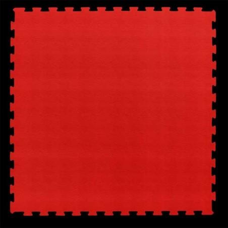 Pavimento para suelo gimnasio aerobic loseta de 100X100X1 cm Rojo