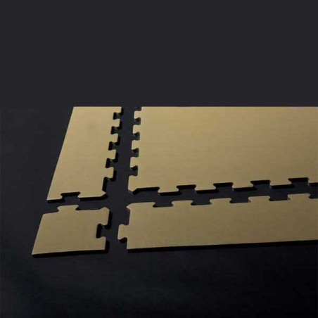 Modo de montaje del perfil en cuña para remate de pavimento o suelo gimnasio aerobic piezas de 30X100X1 cm