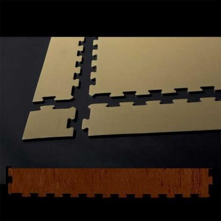 Perfil en cuña para remate de pavimento o suelo gimnasio aerobic piezas de 30X100X1 cm Castaño