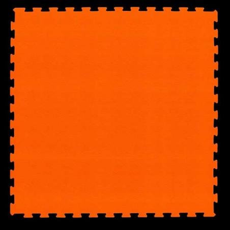 Pavimento suelo para zona de juegos infantiles, guardería psicomotricidad 100x100x2 cm Naranja
