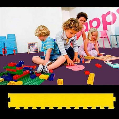 Perfil en forma de cuña para acabado de suelo guardería psicomotricidad zona juegos infantiles 30x100x2 cm