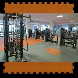 Loseta suelo gimnasio fitness 100x100x1,5 cm