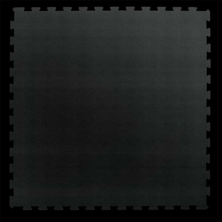 Loseta suelo gimnasio fitness 100x100x1,5 cm color Negro
